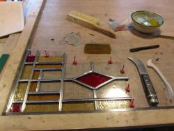 Glas In Lood Cursus.Atelier Riel